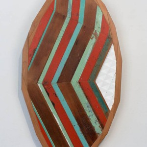 Saatchi Art artist James Watt's abstract geometric sculpture Facets of the heart #13