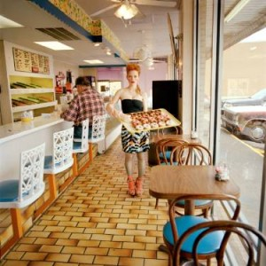 art photograph of young woman in a diner by denise prince