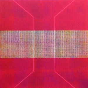 abstract prism painting in pink by saatchi art artist colin mccallum