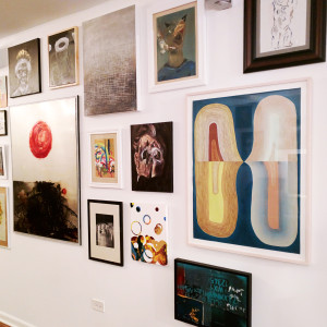 Original artworks gallery wall