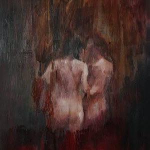Saatchi Art Jake Wood Evans Two Figures in the Dark Study 2