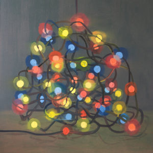 Garland-Red-Yellow-Blue-Alon-Kedem-saatchi-art-light-oil-painting