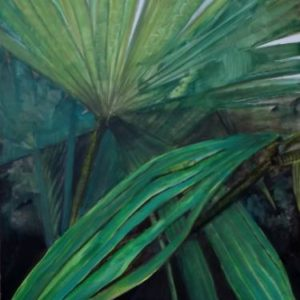 Hannah Weatherhead False Tropics botanical palm painting