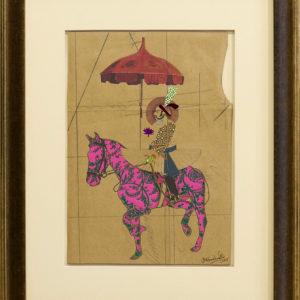 Maharaja-Resplendence-hormazd-narielwalla-saatchi-art-pink-collage
