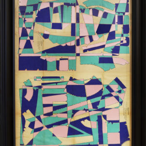 Reflections-in-a-Water-Garden-hormazd-narielwalla-saatchi-art-cubism-collage