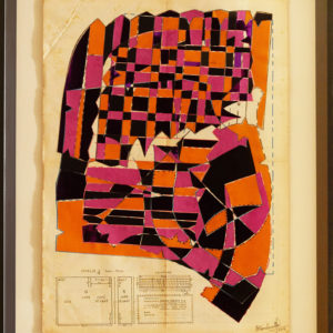 The-Elephant-Parade-No.6-hormazd-narielwalla-saatchi-art-pink-orange-collage