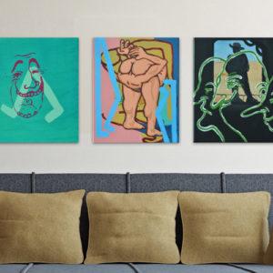 Morgan Willis Paintings Gallery Wall