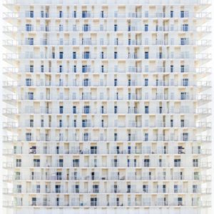 geometric abstract photography white hotel building for midcentrury home