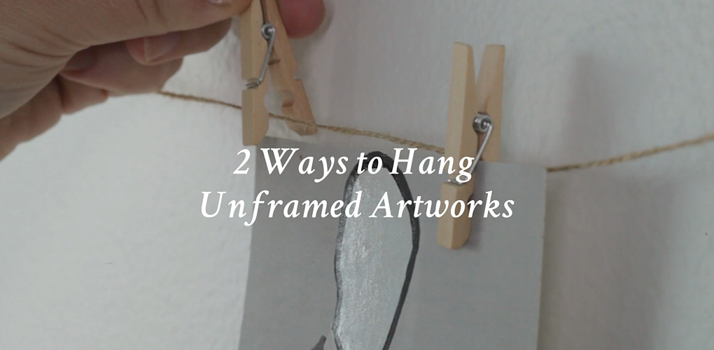 2 Ways To Hang Unframed Photographs Or Works On Paper Canvas A