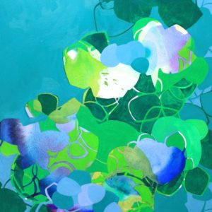 Thicket-wendi-turchan-saatchi-art-blue-green-abstract-painting