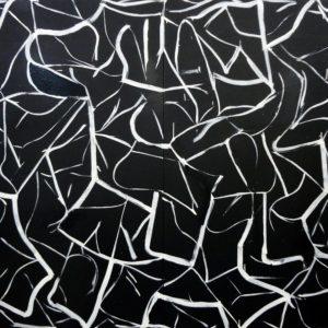 Vowel-Hunt-matthew-dibble-saatchi-art-black-painting