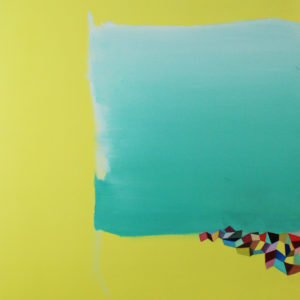 edge-wendi-turchan-saatchi-art-yellow-teal-painting