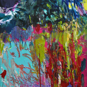 oasis-Gagyi-Botond-saatchi-art-abstract-pink-green-painting