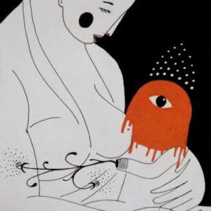 Woman and monster Martin Gerstenberger