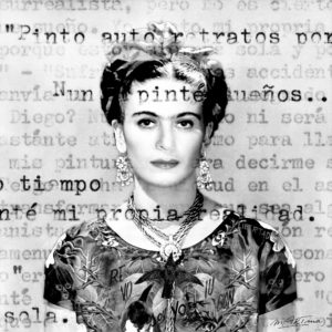 «Being-Frida-Kahlo»-Limited-Edition-Print-1:20%22-martina-rall-saatchi-art-black-white-collage