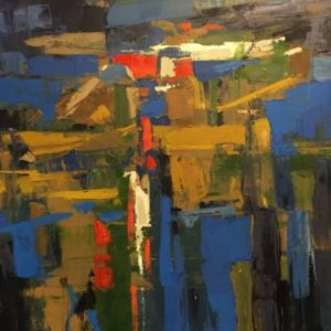 Harbor Reflections abstract painting by K Gavin Brooks