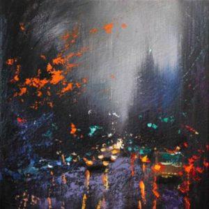 nighttime impressionist landscape