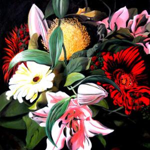 BOUQUET-AFTER-DARK-rudy-schneeweiss-saatchi-art-floral-painting
