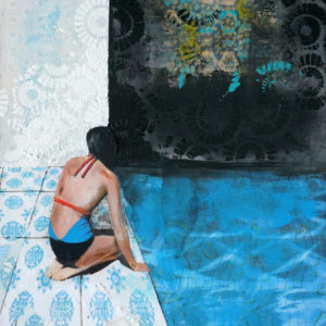 Blue-Summer-JOUBERT-Isabelle-saatchi-art-figurative-collage