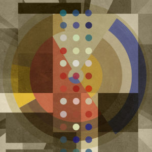 Composition-TWO-ONE-TWO-czar-catstick-saatchi-art-blie-yellow-polka-dots-collage