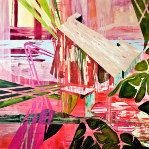 Giovanni-Randazzo-dystopia-3-saatchi-art-abstract-pink-green-painting