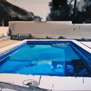 Mail-Delivery-Failed-Robert-Bubel-saatchi-art-swimming-pool-oil-painting