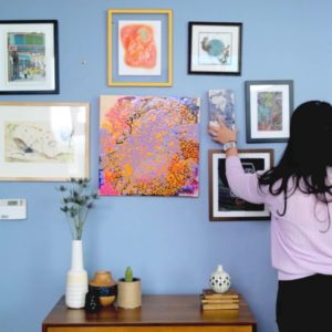 how to map and hang a gallery wall