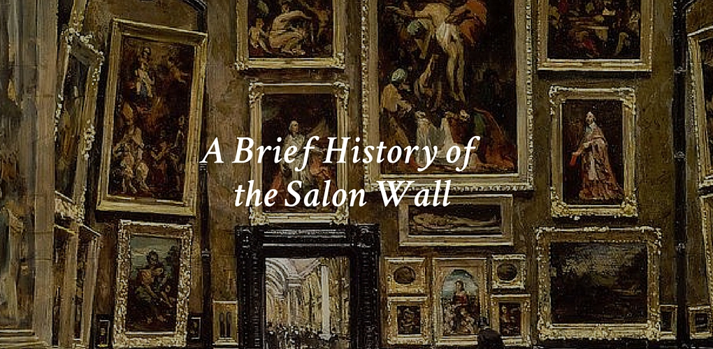 a brief history of the salon wall canvas a blog by