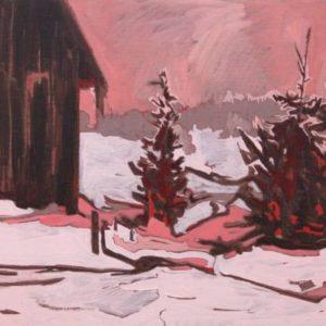 flock-Ange-Mullen-Bryan-saatchi-art-red-linen-painting