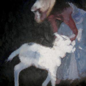 Baby-donkey-Dorian-Allworthy-saatchi-art-figurative-oil-painting