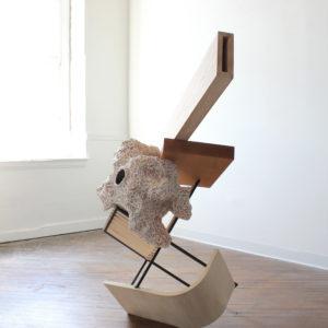 Desert-Albatross-austin-ballard-saatchi-art-pine-steel-ceramic-sculpture