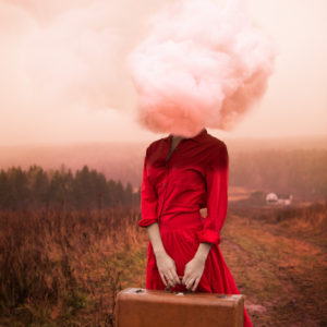 Head-in-the-Clouds-alicia-savage-saatchi-art-red-surreal-photography