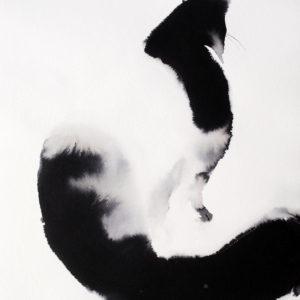 Patience-Soo-Beng-Lim-saatchi-art-ink-paper-cat