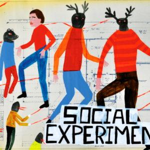 Social-Experiment-Kelly-Puissegur-saatchi-art-figurative-animal-painting