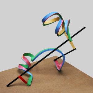 Streamer-10-Frans-Muhren-saatchi-art-colorful-sculpture