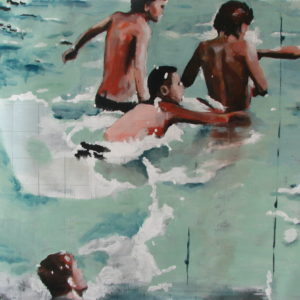 Water-boys-Stefan-Doru-Moscu-saatchi-art-figurative-painting
