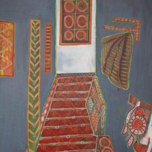 corridor-Daniela-Neumann-saatchi-art-figurative-painting