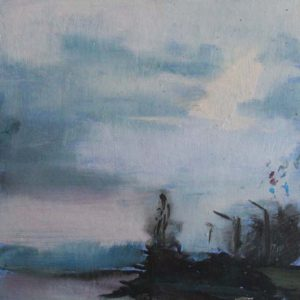 evening-peace-Ieva-Rozentale-saatchi-art-landscape-painting-blue