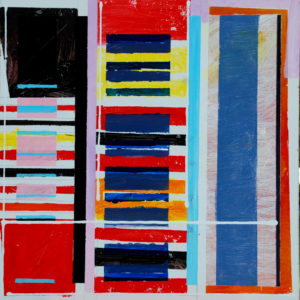 stacks-Michael-Newman-saatchi-art-red-blue-yellow-pink-black-painting