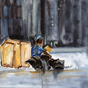 Detroit-in-the-street-Karine-Morel-saatchi-art-figurative-painting