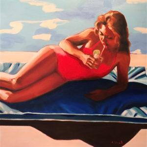 poolside-elizabeth-lennie-saatchi-art-figurative-painting-girl