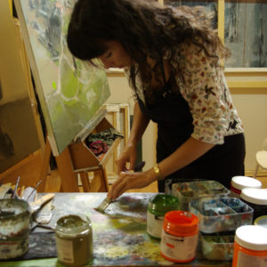 Leticia Gaspar at work