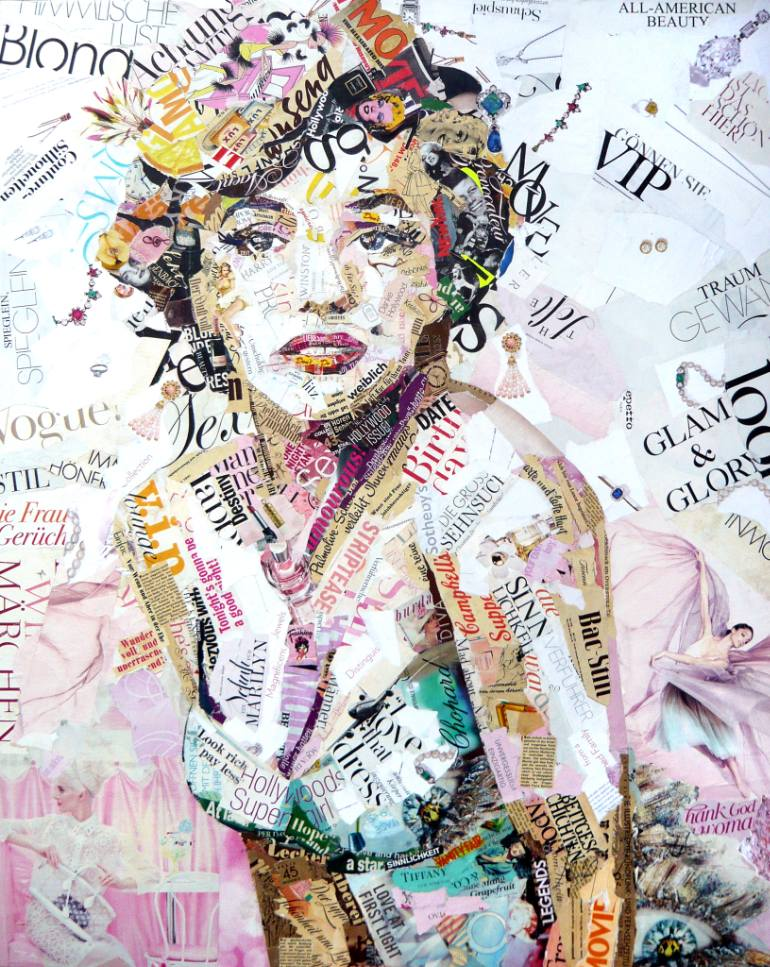 saatchi-art-marilyn-collage-ines-kouidis