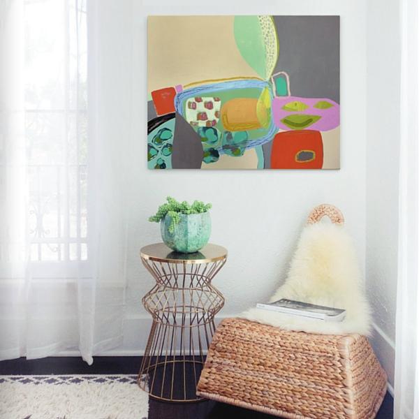 saatchi-art-metallic-side-table-succulents-wyanne-thompson
