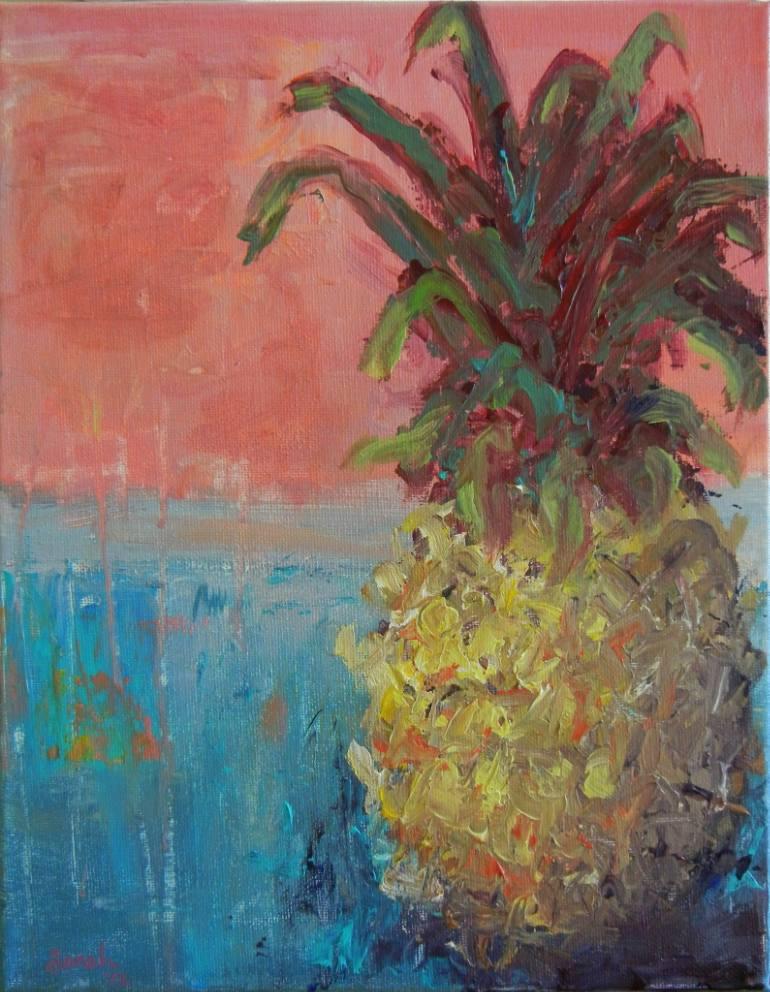 saatchi-art-sarah-stokes-pineapple-art-print