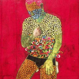 kneeling self-portrait III Gustavo Ortiz
