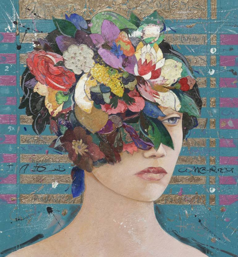 saatchi-art-floral-mind-mixed-media-collage-minas-