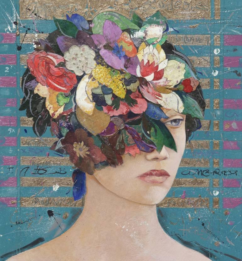 saatchi-art-floral-mind-mixed-media-collage-minas-halaj