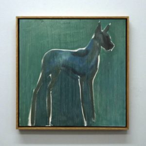 julie sneed painting doberman dog