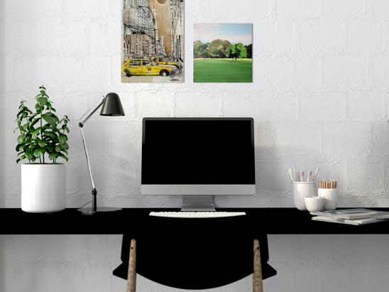 Create Your Best Home Office With Color Canvas A Blog By Saatchi Art